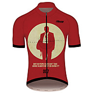 21Grams James Bond Movie Men's Short Sleeve Cycling Jersey - Burgundy Bike Jersey Top Breathable Quick Dry Reflective Strips Sports 100% Polyester Mountain Bike MTB Road Bike Cycling Clothing Apparel