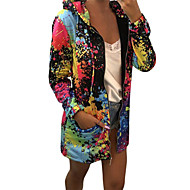 Women's Casual / Active Hoodie Jacket - Rainbow Black S