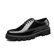 Men's Formal Shoes Microfiber Spring & Summer / Fall & Winter Business / Casual Oxfords Breathable Black / Dress Shoes