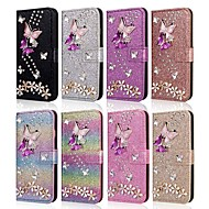 cheap -Case For Samsung Galaxy A51 M40S A71 Wallet  Shockproof Butterfly Diamond Glitter PU Leather Case For Samsung S20 Plus S20 Ultra A20e A50s A30s A10 A60  A70 A80 S10E S10 5G  S10 Plus  Note 10 Plus Not