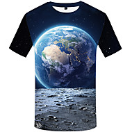 Men's Daily Vintage T-shirt - Graphic Black & Gray, Print Blue
