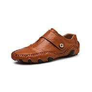 Bărbați Pantofi de confort Primăvară / Vară / Toamnă Casual / Englezesc Zilnic Birou și carieră Mocasini & Balerini Piele Respirabil Non-alunecare Purtați Proof Maro / Negru / Iarnă