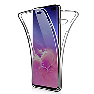 cheap -360 Double Silicone Case For Samsung Galaxy S10 Plus S10 E S10 S9 Plus S9 S8 Plus S8 S7 Edge S7 Note 9 Note 8 Note 10 Plus Note 10 Transparent clear Soft TPU Case Cover
