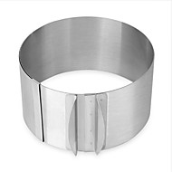 1pc Stainless Steel Adjustable DIY Everyday Use Cake Round Cake Molds Bakeware tools