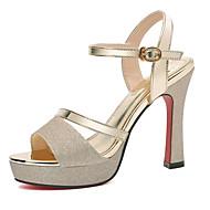 Women's Sandals Chunky Heel PU(Polyurethane) Casual Summer Gold / Silver