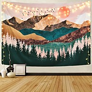 cheap -Wall Tapestry Art Decor Blanket Curtain Picnic Tablecloth Hanging Home Bedroom Living Room Dorm Decoration Mountain Forest Tree Sunset Sunrise Nature Landscape