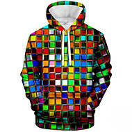 Men's Casual Hoodie - Color Block Hooded Rainbow US36 / UK36 / EU44