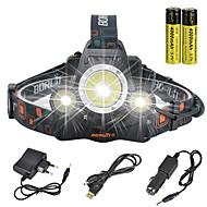 povoljno -Svjetiljke za glavu sigurnosna svjetla Svjetlo za bicikle 13000 lm LED LED emiteri 1 rasvjeta mode s baterijama i punjačima Anglehead Pogodno za vozila Super Light Kampiranje / planinarenje