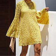 Women's Sheath Dress - Solid Colored Black White Yellow S M L XL