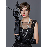 cheap -The Great Gatsby Charleston Vintage 1920s Roaring 20s Costume Accessory Sets Gloves Necklace Flapper Headband Women's Feather Costume Head Jewelry Scarf Necklace Pearl Necklace Black / White / Red
