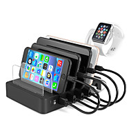 billige -universal usb-ladestation 6 port multi usb c oplader 45w usb pd hurtig opladning til smartphone tablet power bank
