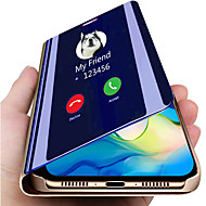 cheap -Smart Mirror Flip Case For Samsung Galaxy Note 10 Plus Galaxy Note 10 Case Clear View PU Leather Kickstand Flip Cover