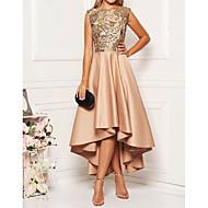 preiswerte -Damen Elegant A-Linie Kleid - Druck, Blumen Asymmetrisch