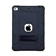 cheap -Case For Apple iPad (2018) / iPad (2017) Shockproof / with Stand Back Cover Solid Colored PC / Silica Gel