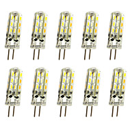 JIAWEN 10pcs 1W 120lm G4 LED Bi-pin Lights Corn Bulb 24LED SMD 3014 Decorative Chandelier Lamp Warm White / Cold White DC 12V