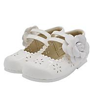 Girls' Comfort Microfiber Flats Little Kids(4-7ys) Flower White / Black Summer
