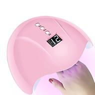 36w smart sensor nageltork-led / uv-lampa med timer LCD-display nagelkonstverktyg för härdning av nagellack autoinduktion