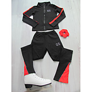 Figure Skating Jacket with Pants Women's Girls' Ice Skating Jacket Pants / Trousers Black / Red Orange Blue Stretchy Training Competition Skating Wear Classic Figure Skating