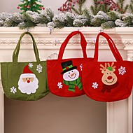 Gift Bags Holiday Cloth Square Novelty Christmas Decoration