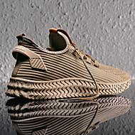 povoljno -Muškarci Udobne cipele Tissage Volant Proljeće / Jesen zima Ležerne prilike Sneakers Hodanje Non-klizanje Prugasti uzorak Crn / Svjetlosmeđ / Sive boje