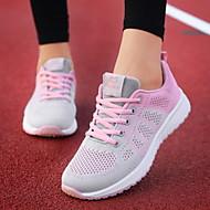 ราคาถูก -สำหรับผู้หญิง รองเท้ากีฬา ส้นแบน ปลายกลม ตารางไขว้ สำหรับวิ่ง ฤดูร้อนฤดูใบไม้ผลิ สีดำ / Dusty Rose / สีบานเย็น