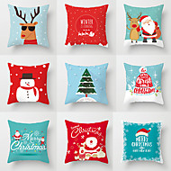 1 pcs Polyester Pillow Cover, Holiday Christmas Christmas Throw Pillow