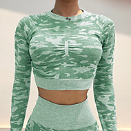 Women's Yoga Top Camo / Camouflage Yoga Gym Workout Top Activewear Breathable Moisture Wicking Quick Dry Stretchy