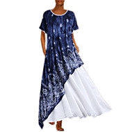 Women's Swing Dress - Geometric White Blushing Pink S M L XL