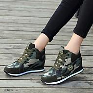 ราคาถูก -สำหรับผู้หญิง รองเท้ากีฬา ส้นแบน ปลายกลม ผ้าใบ สำหรับวิ่ง ฤดูใบไม้ร่วง & ฤดูหนาว อาร์มี่ กรีน / Camouflage Color