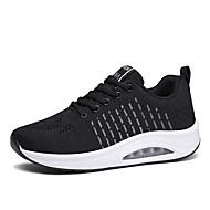 ราคาถูก -สำหรับผู้หญิง รองเท้ากีฬา รองเท้าบู้ทส้นเตารีด ปลายกลม ตารางไขว้ / Tissage Volant ไม่เป็นทางการ / minimalism สำหรับวิ่ง / วสำหรับเดิน ฤดูร้อนฤดูใบไม้ผลิ / ฤดูใบไม้ร่วง & ฤดูหนาว สีดำ / ขาว / สีบานเย็น