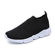 ราคาถูก -สำหรับผู้หญิง รองเท้ากีฬา ส้นแบน ปลายกลม Tissage Volant Sporty วสำหรับเดิน ตก / ฤดูร้อนฤดูใบไม้ผลิ สีดำ / ขาว / สีชมพู