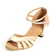 Women's Dance Shoes Synthetics Latin Shoes Heel Cuban Heel Customizable Black / Nude / Purple