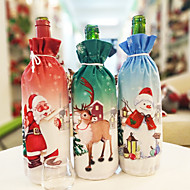 Creative Christmas Red Wine Bottle Christmas Dinner Set Santa Claus Snowman Deer Bottle Cover Clothes Christmas Gift Bag