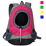 Chat Chien Sac de transport Sac à dos pour Chat Portable Respirable Couleur Pleine Nylon Chiot Petit Chien Violet Jaune Rouge