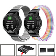cheap -Sport Nylon Watch Band Wrist Strap For Garmin Fenix 6 Pro / Fenix 5 Plus / Forerunner 935 / Approach S60 / Quatix 5 Quick Release Wristband