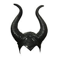 cheap -Witch Maleficent Masquerade Headwear Adults' Men's Cosplay Halloween Halloween Carnival Masquerade Festival / Holiday Glue Black Men's Women's Easy Carnival Costumes Solid Colored / Hat / Hat