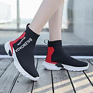 ราคาถูก -สำหรับผู้หญิง รองเท้ากีฬา ส้นต่ำ ปลายกลม ถัก / Tissage Volant ไม่เป็นทางการ / Preppy วสำหรับเดิน ตก / ฤดูร้อนฤดูใบไม้ผลิ แดง / ฟ้า