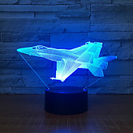 1pc 3D Nightlight Color-changing USB For Children / Creative / Birthday 5 V