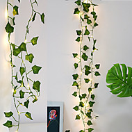 cheap -2M 20LED Ivy String Light Living Room Bedroom Christmas Tree Wedding Decoration Cane Creeper Ivy Battery Powered Fairy Lights Without Battery