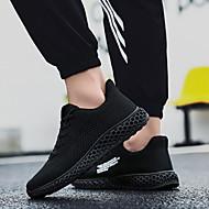ราคาถูก -สำหรับผู้หญิง รองเท้ากีฬา ส้นแบน ปลายกลม ตารางไขว้ สำหรับวิ่ง ฤดูใบไม้ร่วง & ฤดูหนาว สีดำ / ขาว