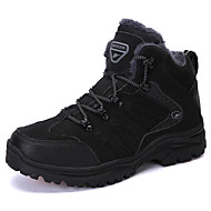 ราคาถูก -สำหรับผู้หญิง รองเท้ากีฬา ส้นแบน ปลายกลม PU รองเท้าบู้ทหุ้มข้อ Sporty / ไม่เป็นทางการ เดินป่า / วสำหรับเดิน ฤดูหนาว สีดำ / อาร์มี่ กรีน / สีเทา