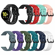 cheap -Watch Band for Samsung Galaxy Watch Active 2 40MM/44MM Samsung Galaxy Sport Band / Classic Buckle Silicone Wrist Strap