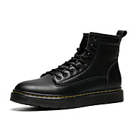 Men's Leather Shoes Cowhide Spring / Fall & Winter Casual / British Boots Non-slipping Booties / Ankle Boots Black