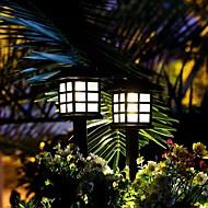 2 sztuk mała latarnia 1 w oświetlenie trawnika wodoodporne / słoneczne / nowy design ciepły biały / rgb / biały 1.2 v oświetlenie zewnętrzne / basen / dziedziniec 1 koraliki led