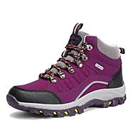 ราคาถูก -สำหรับผู้หญิง รองเท้ากีฬา ส้นแบน ปลายกลม หนังนิ่ม รองเท้าบู้ทหุ้มข้อ Sporty / ไม่เป็นทางการ เดินป่า / วสำหรับเดิน ฤดูใบไม้ผลิ / ตก สีม่วง / สีบานเย็น
