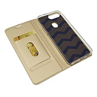 Case For OPPO oppo A5 Card Holder / Magnetic / Auto Sleep / Wake Up Full Body Cases Solid Colored PU Leather / TPU