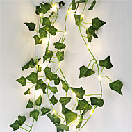 abordables -2m plantas artificiales led string light creeper green leaf ivy vine 6pcs 3pcs 1pc para la decoración de la boda en casa lámpara diy jardín colgante (sin batería)