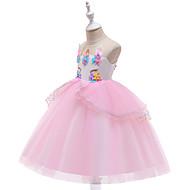 Unicorn Elbiseler Cosplay Kostümleri Maskeli Balo Genç Kız Film Kostümleri A-Line Alt Giyimi Cosplay Cadılar Bayramı Mor / Pembe / Mavi Elbise Cadılar Bayramı Çocukların Günü Maskeli Balo Tül Poli