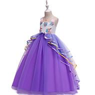 Unicorn Dress Cosplay Costume Masquerade Girls' Movie Cosplay Cosplay Halloween Purple / Blue / Pink Dress Halloween Children's Day Masquerade Poly / Cotton Blend