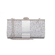 Women's Sequin Polyester Evening Bag Solid Color Black / Blushing Pink / Gold